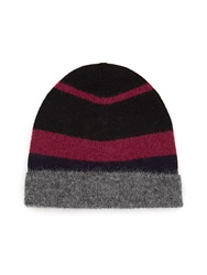 Maison Martin Margiela Colour Block Wool And Mohair Blend Beanie Hat