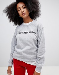 Adolescent Clothing See You Next Tuesday Sweatshirt Grey Black
