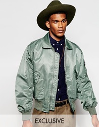 Reclaimed Vintage Ma2 Bomber Jacket Green
