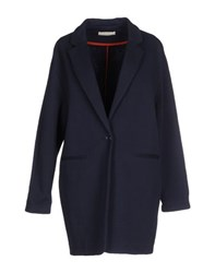 Sessun Coats And Jackets Full Length Jackets Women Dark Blue