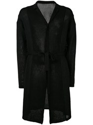 The Viridi Anne Belted Cardigan Men Cotton Paper Rayon 3 Black