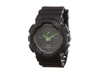 G Shock Ga 100 Neon Highlights Black Green Watches