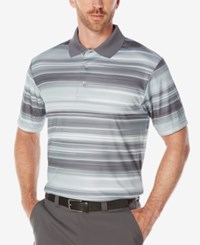 Pga Tour Men's Heathered Performance Golf Polo Shirt Asphalt