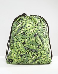 Mi Pac Kit Bag Tropical Leaf Print Black