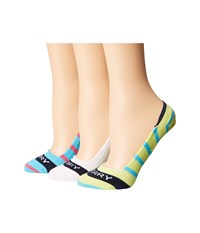 Sperry Signature Invisible Stripes Blue Atoll Assorted Women's Crew Cut Socks Shoes Multi
