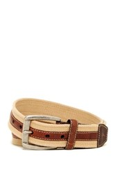 Tommy Bahama Fabric And Leather Belt Brown