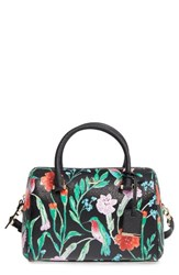 Kate Spade New York Cameron Street Jardin Large Lane Faux Leather Satchel Black Black Multi