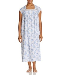 Eileen West Plus Ballet Nightgown White Light Blue