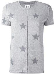 Zoe Karssen Star Print T Shirt Grey