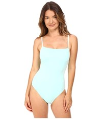Kate Spade Early Cruise 17 Maillot W Mini Bow Strap Detail Caribbean Sky Women's Swimsuits One Piece Blue