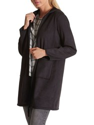 Betty Barclay Faux Shearling Coat Black