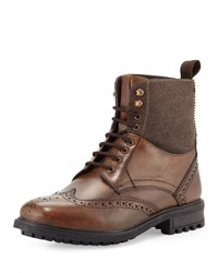 Ben Sherman Dudley Leather Wing Tip Boot Cognac