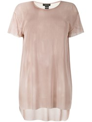 Avant Toi Sheer T Shirt Neutrals