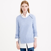 J.Crew Merino Wool Asymmetrical Zip Sweater