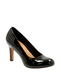 Clarks Heavenly Star Patent Leather Pumps Black