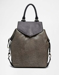 Paul's Boutique Gabriella Shoulder Bag In Suede Leather Stingray Multi
