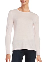 Lord And Taylor Petite Crewneck Merino Wool Sweater Sweetpea