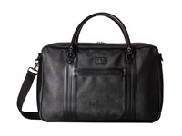 Fred Perry Saffiano Overnight Bag Black Bags