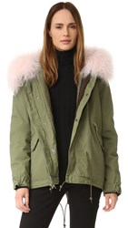 Mr And Mrs Italy Parka With Pink Mongolian