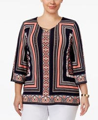Jm Collection Plus Size Printed Tunic Only At Macy's Mumbai Angle