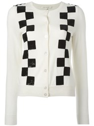 Marc Jacobs Classic Checkered Cardigan Nude Neutrals