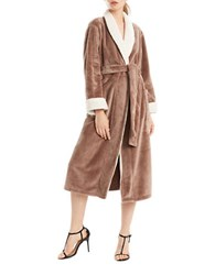 N Natori Cashmere Fleece Robe Brown