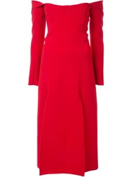 Christopher Esber Owl Shoulderless Dress Red