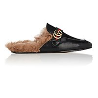 Gucci New Princetown Leather Slippers Black