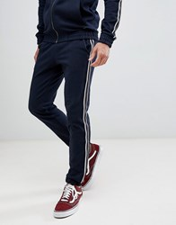 Tom Tailor Fashion Joggers With Side Taping Navy