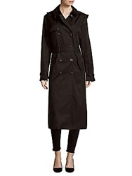 T Tahari Lauren Double Breasted Coat Black