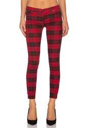 Black Orchid Billie Zipper Skinny Mad Fox Plaid