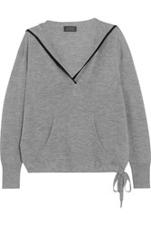 J.Crew Hooded Cashmere Sweater Gray