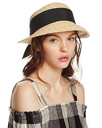 Aqua Straw Cloche Hat With Bow Back 100 Exclusive Natural Black