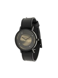 South Lane Avant Emerge Watch Calf Leather Stainless Steel Black