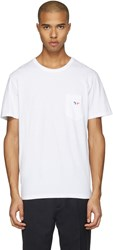 Maison Kitsune White Fox Patch T Shirt