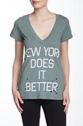 Rebel Yell New York Does It Better Tee Green