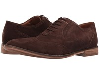 Hush Puppies Style Brogue Dark Brown Suede Men's Lace Up Wing Tip Shoes