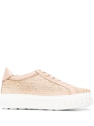 Casadei Woven Low Top Trainers 60