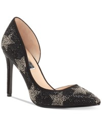 Inc International Concepts Women's Kenjay D'orsay Pumps Created For Macy's Women's Shoes Black Stars
