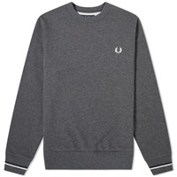 Fred Perry Authentic Crew Sweat Grey