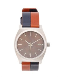Nixon The Time Teller 38 Leather Watch