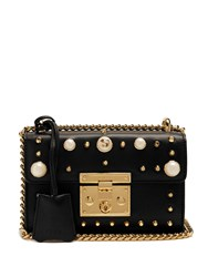 Gucci Mini Padlock Embellished Shoulder Bag Black