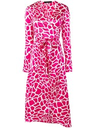 Federica Tosi Vegas Printed Wrap Dress Pink
