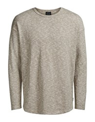 Jack And Jones Jorethan Crewneck Textured Pullover Tigers Eye