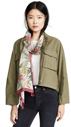 Rebecca Minkoff Tropical Long Scarf Peach Whip