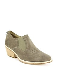 Finlay Low Suede Booties Stone