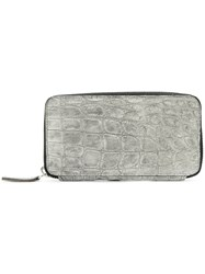Isaac Sellam Experience Embossed Wallet Women Leather One Size Grey