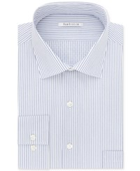 Van Heusen Men's Classic Regular Fit Wrinkle Free Stripe Dress Shirt Bright Blue