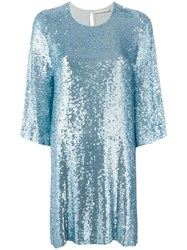 Amen Sequin Embellished Dress Blue