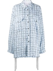 Faith Connexion Tweed Oversized Fit Shirt 60